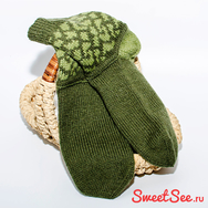 """Купить Шерстяные мужские носки """"В стиле хаки"""" в Москве, интернет-магазине Sweetsee.ru"""