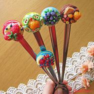 Купить Ложки макаруны из полимерной глиной в Москве, интернет- магазин Sweetsee.ru
