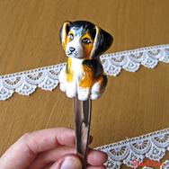 Купить Вкусную ложку с собачкой из полимерной глины, в Москве, интернет- магазин Sweetsee.ru