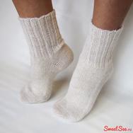 """Купить Шерстяные носки """"Деревенские"""" белые в интернет-магазине Sweetsee.ru"""