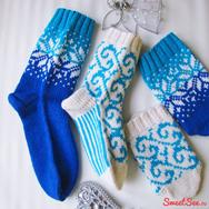 """Купить Подарок на новый год для семейной пары - Комплект шерстяных носков """"Королевская зима"""" в интернет-магазине Sweetsee.ru"""