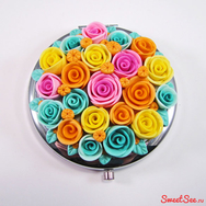 """Купить Подарочное карманное зеркало """"Сахарные розы"""" в интернет-магазине Sweetsee.ru"""