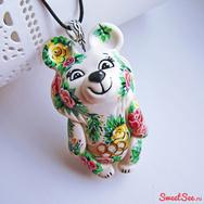 """Купить """"Олимпийского Мишку в цветах"""" в интернет-магазине Sweetsee.ru"""