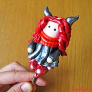 """Купить Вкусную ложку """"Девочка-чертенок"""" из полимерной глины, десертная. В интернет-магазине Sweetsee.ru"""