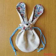 """Купить Косметичку-мешочек """"Заячьи Ушки"""" в цветочек в интернет-магазине Sweetsee.ru"""