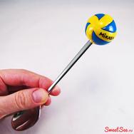 """Купить Вкусную ложку с декором из полимерной глины """"Волейбольный мяч Mikasa"""" в интернет-магазине Sweetsee.ru"""