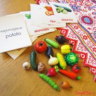 Купить Набор Овощи для детей из полимерной глины с карточками, в Москве, в интернет-магазине Sweetsee.ru
