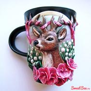 Купить кружку с оленем в интернет-магазине ручной работы Sweetsee.ru, Москва