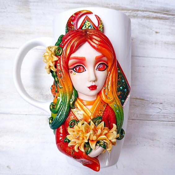 """Кружка """"Девочка-Флора"""" для настоящих ценителей природы"""