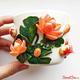 """Купить кружку с декором из полимерной глины """"Карпы и лотосы"""" в интернет-магазине Sweetsee.ru"""