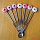 """Купить Вкусную ложку для мороженого """"Рассвет"""" с пончиком из полимерной глины в интернет-магазине Sweetsee.ru"""