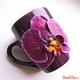 Купить кружку из полимерной глины с орхидей в интернет-магазине Sweetsee.ru